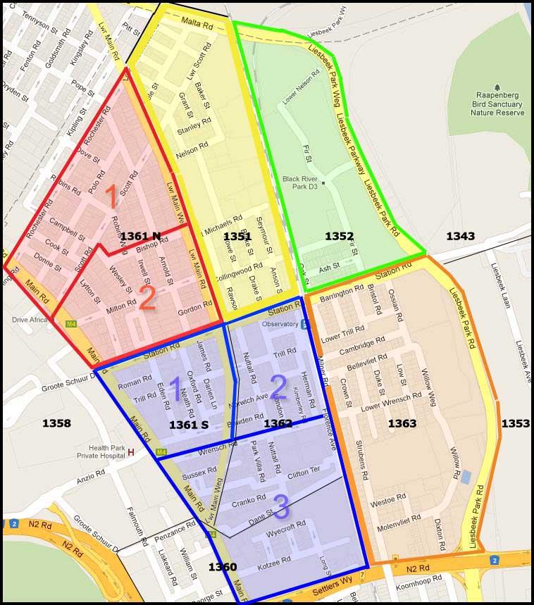 ONW Map - Colour Zones